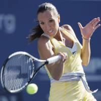 Spirited competitor: Serbia's Jelena Jankovic, who is competing in the Toray Pan Pacific Open this week, says hard work and determination are keys to success for a top-ranked player. Jankovic was the world's top-ranked female for a week earlier this summer, losing the top spot after the Beijing Olympics. | AP PHOTO