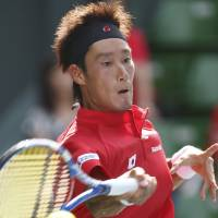 New dawn: Yuichi Sugita helped Japan reach the Davis Cup World Group for the first time since 1985. | AP PHOTO