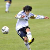 Fight for fitness: Shunsuke Nakamura may sit out Japan's World Cup warmup match against England on Sunday as he continues to get himself back into shape. | KYODO PHOTO