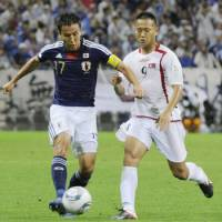 He's back: Makoto Hasebe wants to make his mark against Uzbekistan. | KYODO PHOTO