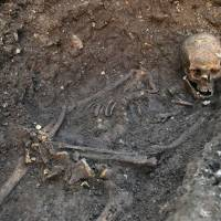 Positive identification: Forensic pathologists at the University of Leicester recently used computed tomography to match the marks on King Richard III's skull with the blows he is supposed to have suffered from a sword and halberd in 1485. | AP