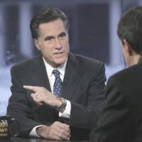 'Ups and downs': Former Republican presidential hopeful Mitt Romney speaks with host Chris Wallace on 'Fox News Sunday' in Manchester, New Hampshire. | AP