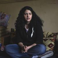 Reliving assault: Sexual harassment victim Yasmine al-Baramawy speaks about being assaulted as she was taking part in a demonstration in Cairo's  Tahrir Square. | AFP-JIJI