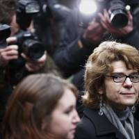 Revenge saga?: Vicky Pryce, ex-wife of former British energy minister Chris Huhne, arrives at Southwark Crown Court in London, on Sunday. | AFP-JIJI