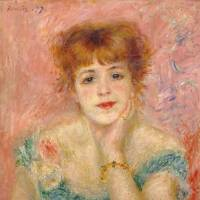 Pierre-Auguste Renoir's 'Portrait of Jeanne Samary' (1877). oil on canvas (56 x 47 cm) |  © THE STATE PUSHKIN MUSEUM OF FINE ARTS, MOSCOW