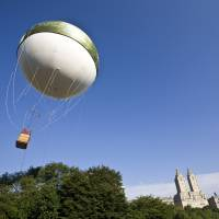 Fanciful: A helium balloon ascends from Central Park in New York in 2008. | BLOOMBERG