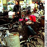 Bicycles left around train stations cause major headaches for local authorities.