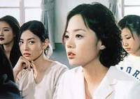 'Bad girl' Kim So Yan (left) casts a disparaging glance toward  'good girl' Che Lim in the South Korean drama 'All About Eve.'