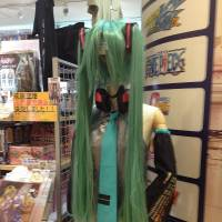 In-flight entertainment: A Hatsune Miku outfit spotted at the new Cospa Akihabara store in Narita airport. | ROLAND KELTS