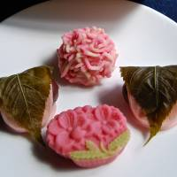 Seasonal snacks: Sakura-mochi wrapped in cherry leaves   at Toraya | ROBBIE SWINNERTON