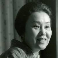 Home tutor: 'She was a genius who became a housewife,' Matsumoto Koshiro IX says of his mother, Masako (above). As the daughter of a kabuki actor, she taught him the skills necessary for his art. | MATSUMOTO KOSHIRO OFFICE