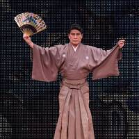 Optimistic outlook: In late October, Matsumoto Koshiro IX performs at the opening of the Coredo Muromachi development by Mitsui Fudosan in Tokyo's central Nihonbashi district. He recounted then how, when the area was the nation's financial center, workers in that sector were regulars at the kabuki. 'We need to get such people interested again,' he said.