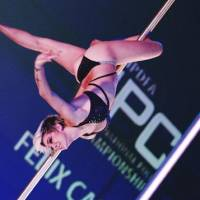The right lines: Felix Cane, the current Miss Pole Dance Australia, makes it look easy at the International Pole Championship in Tokyo. | 37 FRAMES PHOTOS