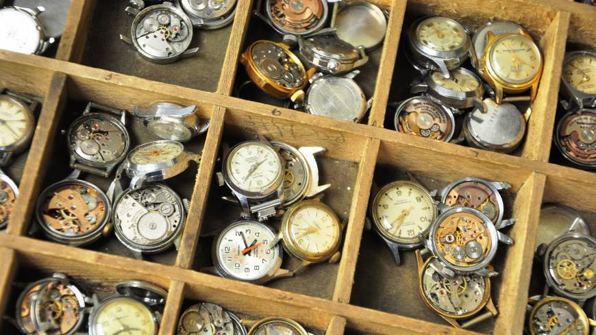 He's one of the few watchmakers left in the city who can fix quartz and mechanical watches such as these (above left) that date back decades.
