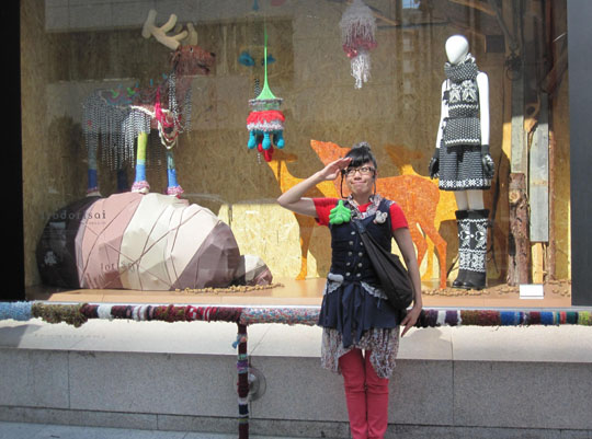Mad knitters take to Tokyo's streets