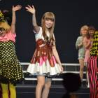 Sweet stuff: Kyary Pamyu Pamyu waves to her legions of fans, as she sports a melted-chocolate dress typical of her unique sense of style.