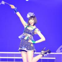 Yumemi Nemu of Dempagumi.inc in clothing by Spinns at KAWAii!! MATSURi 2013. | SAMUEL THOMAS