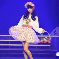 Furukawa Mirin of Dempagumi.inc wearing clothing by Spinns at Kawaii!! Matsuri 2013. | SAMUEL THOMAS