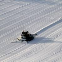 Pure and simple: Snow-grooming seen from on high.   CHRISTOPHER JOHNSON PHOTO