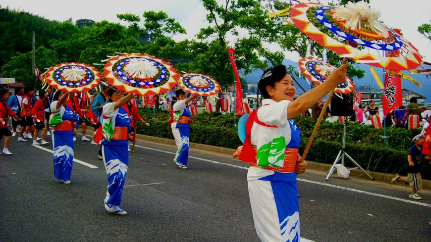 Isles of wonder: A colorful festival parade on Nakanoshima Island (aka Ama)