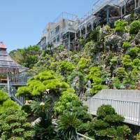 Small is beautiful: The bonsai garden hard by a cliff at Gold Hall is a towering, verdant gem, though some of the venue's other lures instead scale heights of kitsch.