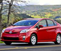 Testing the limits: The new 2010 Toyota Prius hybrid is driven through Napa County, Calif., on Feb. 26. | BLOOMBERG