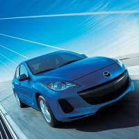 Top performer: An Axela, known as the Mazda 3 outside Japan, is seen in this handout image provided to the media by Mazda Motor Corp. on Tuesday. | MAZDA MOTOR CORP./BLOOMBERG
