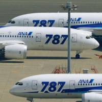 Grounded: All Nippon Airways has 17 Boeing 787 Dreamliners in its fleet. | KYODO