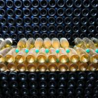 Turning water into wine: Sparkling wine undergoes an early fermentation process at the Ridgeview Wine Estate in East Sussex, England. | BLOOMBERG