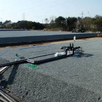 Problems compounded: The sunken reservoir No. 3, among seven at Tokyo Electric Power Co.'s crippled Fukushima No. 1 nuclear plant, is one of three found to be leaking radioactive water, at least since Sunday. During efforts Thursday to transfer its contents to another covered cistern, the pumping equipment also sprang a leak and was shut down.   KYODO