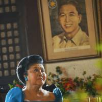 Great believer: Imelda Marcos, who was once the first lady of the Philippines, speaks during an interview Saturday at her condominium in central Manila. | KYODO