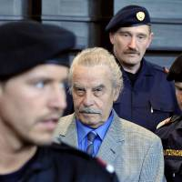 Day of reckoning: Josef Fritzl, the 'Monster of Amstetten,' is seen prior to sentencing in his incest trial at a courthouse in St. Poelten, Austria, in March 2009. | AFP-JIJI