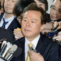 Mea culpa: Tokyo Gov. Naoki Inose speaks to reporters Tuesday at the Tokyo Metropolitan Government building. | KYODO