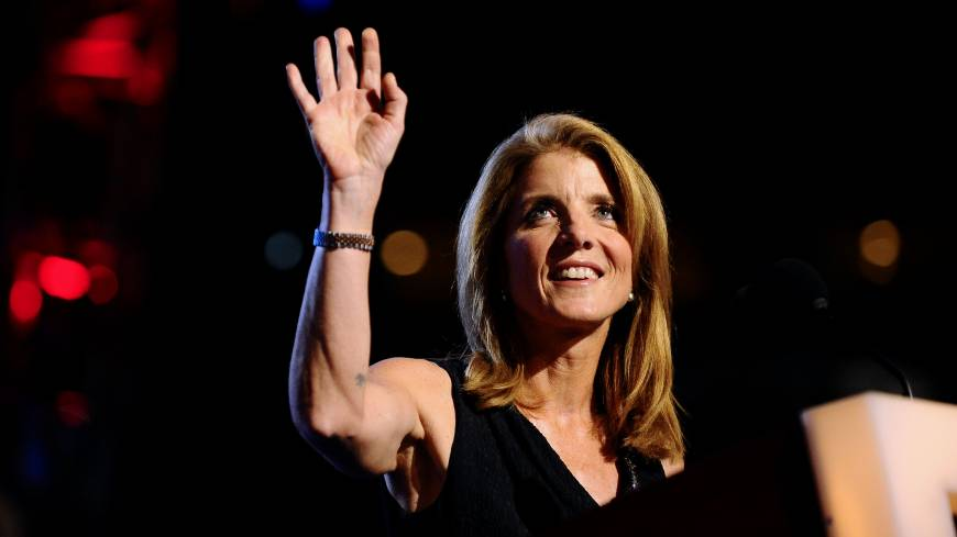 Setting the stage: Caroline Kennedy Schlossberg waves before introducing her uncle, the late Sen. Edward 'Ted' Kennedy of Massachusetts, on the opening day of the 2008 Democratic National Convention in Denver on Aug. 25, 2008.