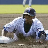 Fun and games: Nyjer Morgan has his sights on helping to get things turned around in Yokohama this season. | KYODO