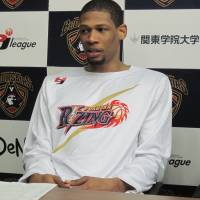 Well-traveled big man: Rizing Fukuoka center Julius Ashby, a native of Trinidad, is playing for his fifth bj-league team. | ED ODEVEN
