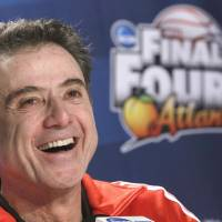 Incredible day: University of Louisville coach Rick Pitino was elected to the Basketball Hall of Fame on Monday, the same day his team won the NCAA championship. | AP