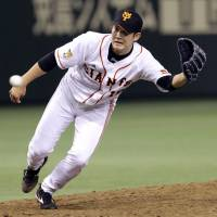 Talk is cheap: Yomiuri's Tomoyuki Sugano (above) and Nippon Ham's Shohei Otani will be two of the most followed players in Japan during the 2013 campaign. | KYODO