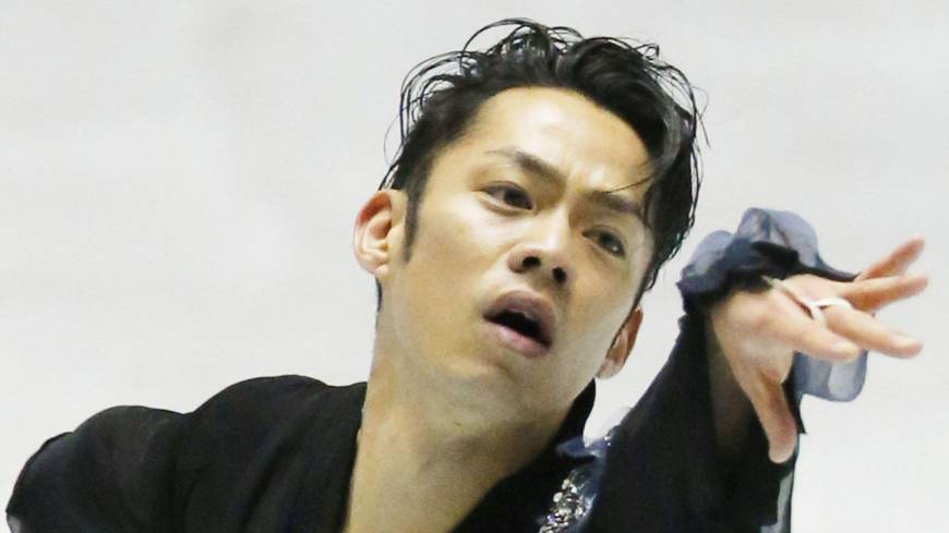 Take one for the team: Daisuke Takahashi performs during the World Team Trophy on Thursday.