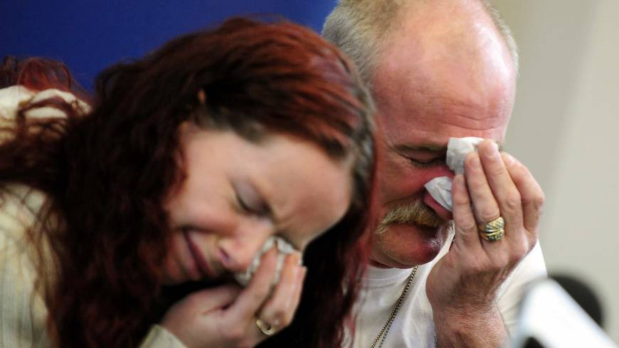 'Harrowing' case: Mick Philpott and his wife, Mairead, weep during a news conference on May 16, 2012, in Derby, England, following a fire at their home that claimed the lives of six of their children.