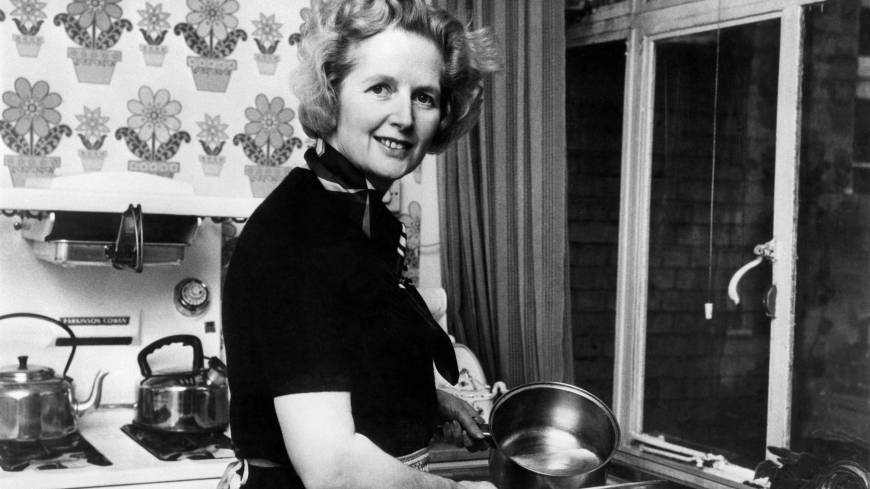 Margaret Thatcher poses at her London home following her February 1975 election as Conservative Party leader.
