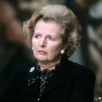 British Prime Minister Margaret  Thatcher attends the fifth Franco-British summit in Paris in September 1980. | AFP-JIJI