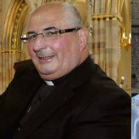 Crisis control: Archbishop Philip Tartaglia of Glasgow (left) and Auxiliary Bishop Stephen Robson chaired one of several priest meetings that were held in the diocese of Cardinal Keith O'Brien following his resignation. | AMBROSIA212/MARK.HAMID
