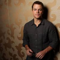 Maintaining middle-class values: 'Politically I vote against my own self-interest at every election,' says actor Matt Damon. | AP