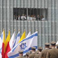 Rebellion remembered: A ceremony on April 19 commemorates the 70th anniversary of the start of the Warsaw Ghetto Uprising, in which 13,000 Polish Jews died fighting Nazi troops, and the opening of the Museum of the History of Polish Jews. | AP