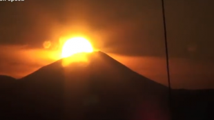 [VIDEO] 'Diamond Fuji' from Tokyo Tower
