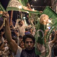 Sharif claims historic win in Pakistan polls