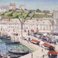 'Red Roofs, Audierne' by Albert Marquet | OSAKA MARITIME MUSEUM
