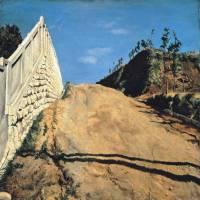 Ryusei Kishida's 'Road Cut through a Hill' (1915), a designated Important Cultural Property.   TOKYO NATIONAL MUSEUM; IMAGE: TNM IMAGE ARCHIVES