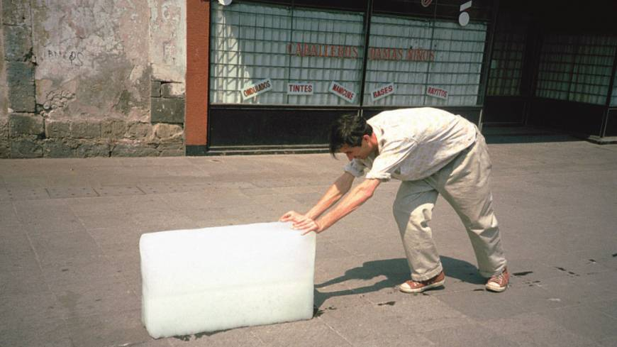 Francis Alÿs' 'Paradox of Praxis I (Sometimes Doing Something Leads to Nothing)' (1997), Mexico City video documentation of an action.